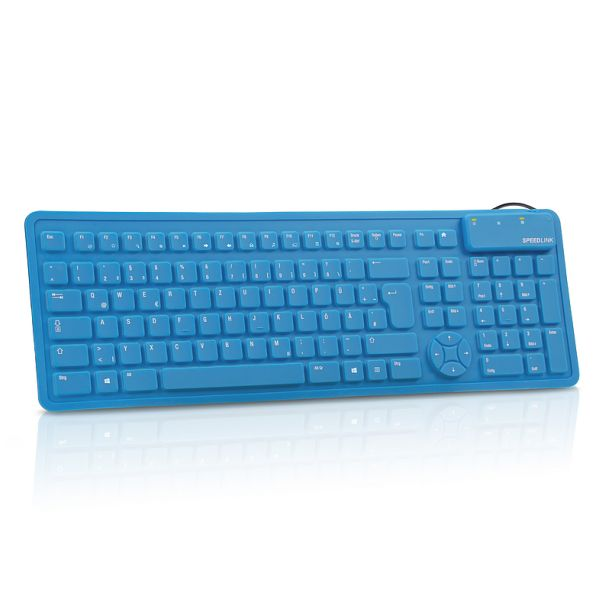 Speed-Link Rugg Flexible Silicone Keyboard, blue