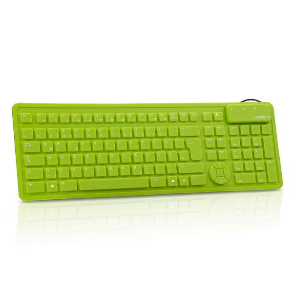 Speed-Link Rugg Flexible Silicone keyboard, green