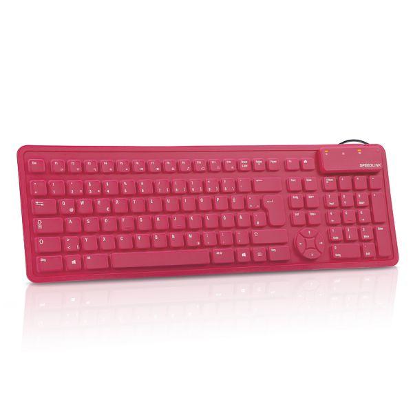 Speed-Link Rugg Flexible Silicone Keyboard, red - OPENBOX (Rozbalený tovar s plnou zárukou)