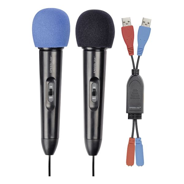 Speed-Link Starlet Microphone Set for Wii, black