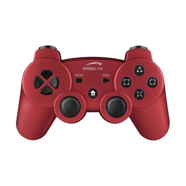 Speed-Link Strike FX Wireless Gamepad for PS3, metallic red