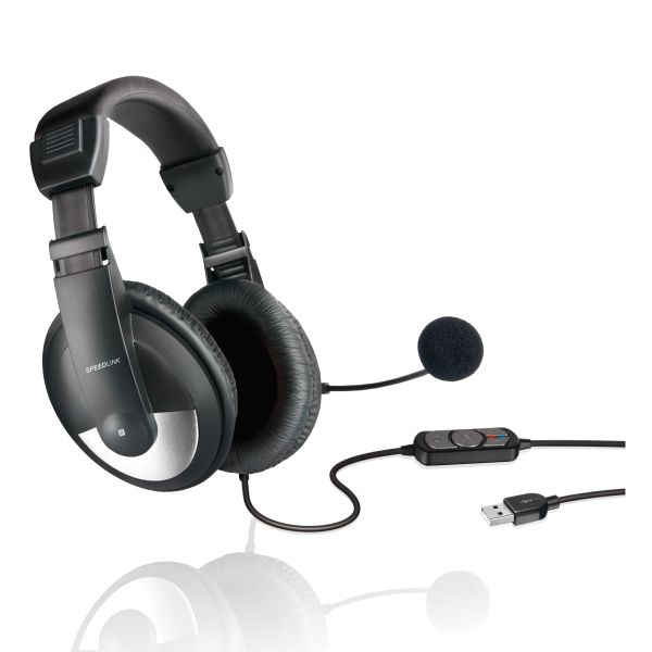 Speed-Link Thebe Stereo Headset USB, black