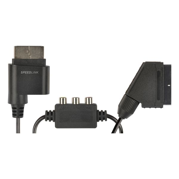 Speed-Link Tracs Scart Video & Audio Cable for Xbox 360, black