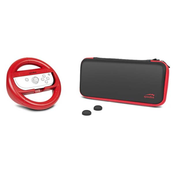 Speedlink Racing Starter Kit for Nintendo Switch, black-red