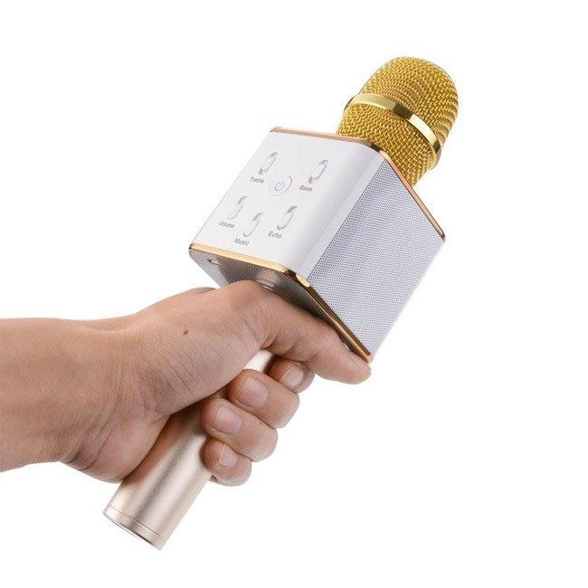 Technaxx BT X35 PRO Bluetooth karaoke mikrofon zlato stříbrná 4611