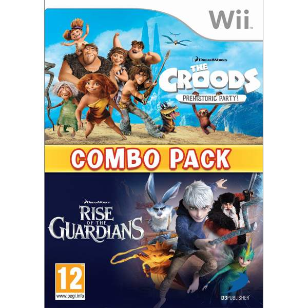 The Croods: Prehistoric Party + Rise of the Guardians (Combo Pack)