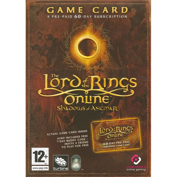 The Lord of the Rings Online: Shadows of Angmar Game Time Kup�n