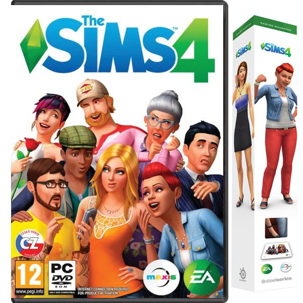 The Sims 4 CZ + SteelSeries QcK The Sims 4 Edition