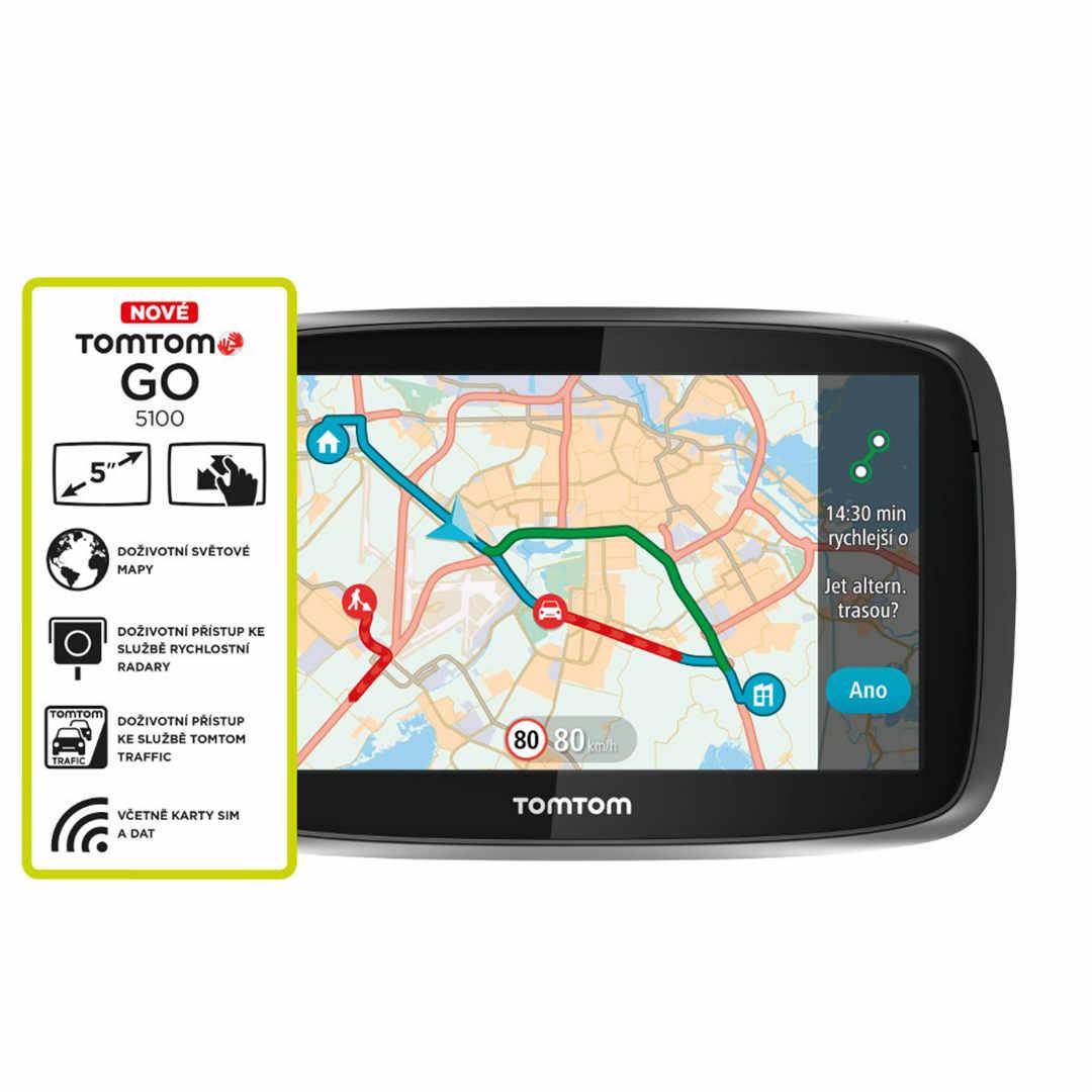 TomTom Go 5100 World (Speak&Go) + Mapy 152 krajín Sveta + Doživotná aktualizácia máp - Rozbalený tovar s plnou zárukou