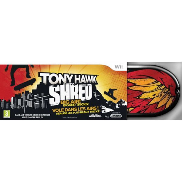 Tony Hawk: SHRED + skateboard