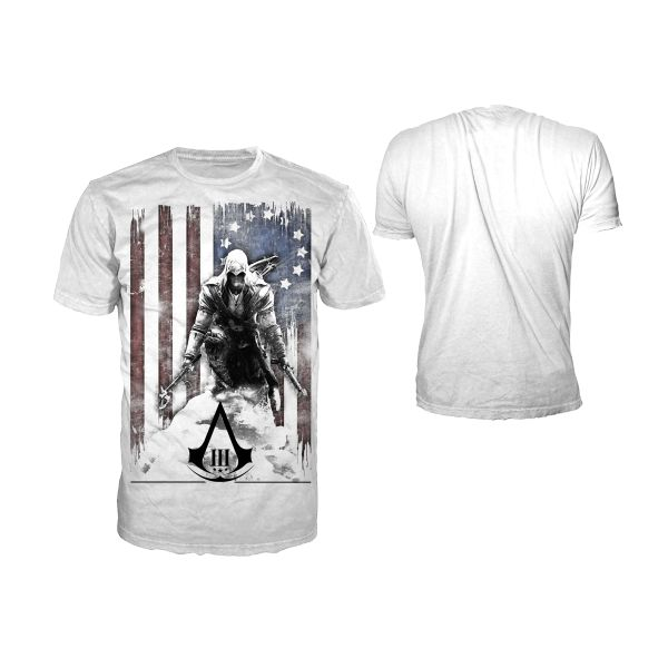 Tri�ko Assassin�s Creed 3: Burned Flag XL