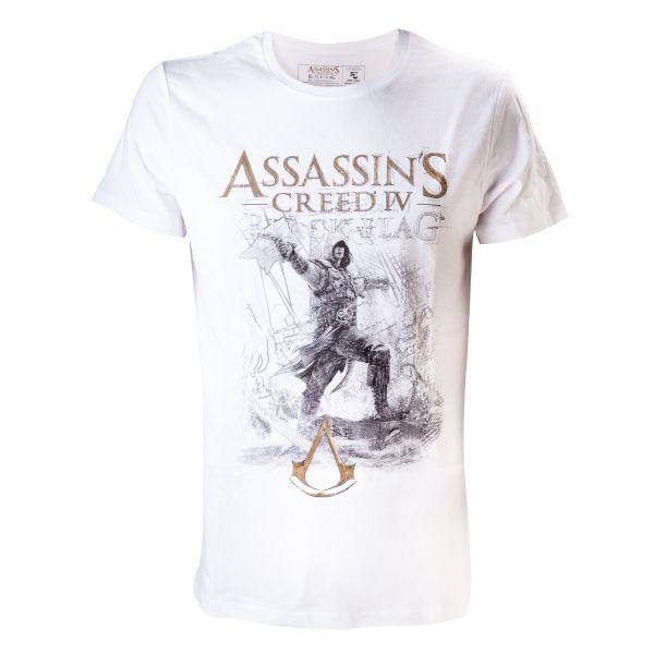 Trièko Assassin's Creed 4 Black Flag: Sketch Art XL