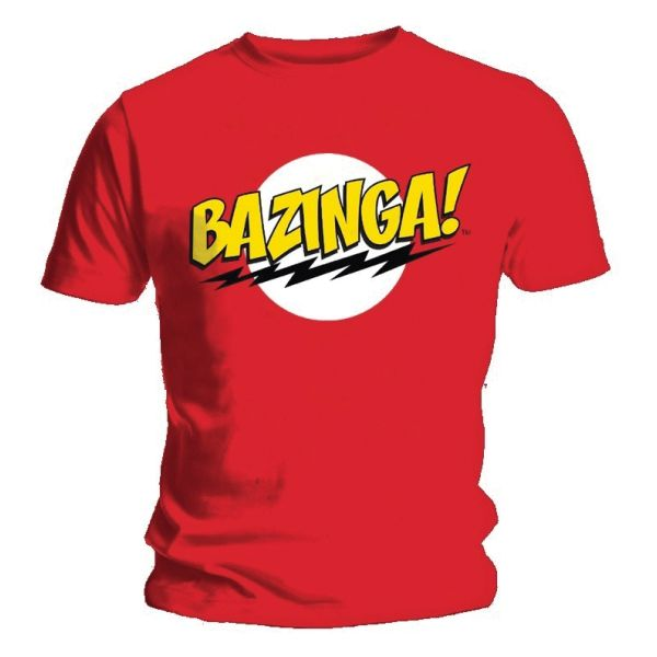Trièko Big Bang Theory: Bazinga!, red M