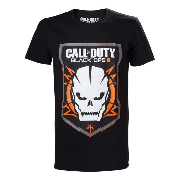 Tri�ko Call of Duty Black Ops 3: Game Logo with Skull XL