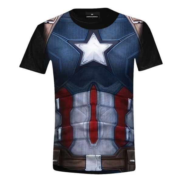 Trièko Captain America Civil War: Captain Costume Full Printed L