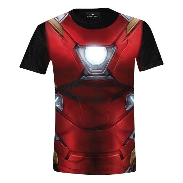 Trièko Captain America Civil War: Iron-Man Costume Full Printed S