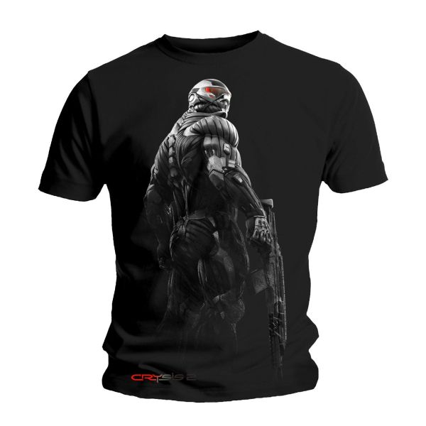 Tri�ko Crysis 2: Grey and Red, large