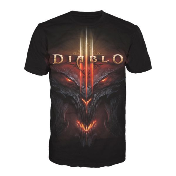 Tri�ko Diablo 3: All Over Face L