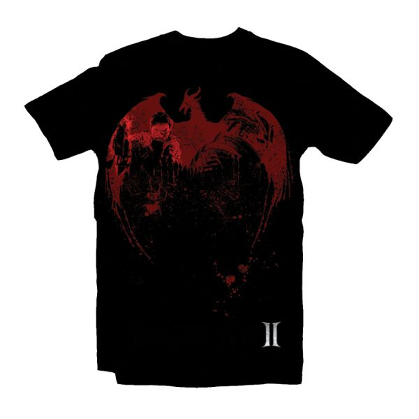 Tri�ko Dragon Age 2 Red Dragon, large