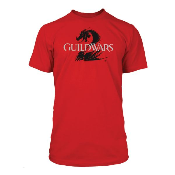 Tričko Guild Wars 2: Logo Black on Red XL