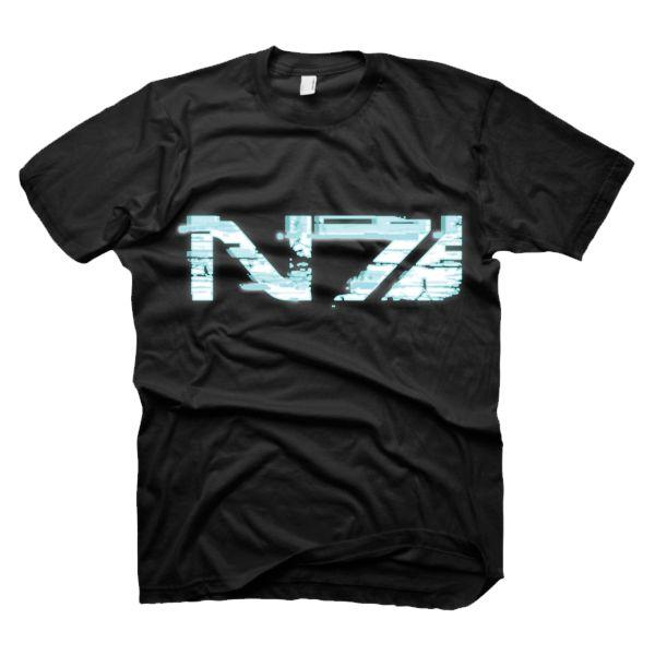 Tričko Mass Effect 3: Glitch N7 Logo, Xlarge