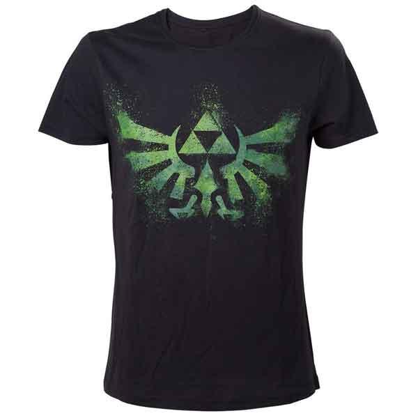 Trièko Nintendo - Green Zelda Logo M