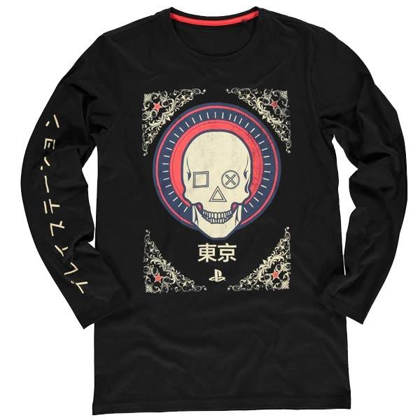 Tričko PlayStation Skull L