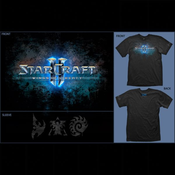 Tri�ko StarCraft 2 Wings of Liberty: Logo XL