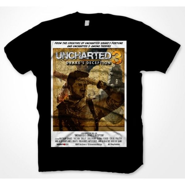 Tri�ko Uncharted 3: Poster, large