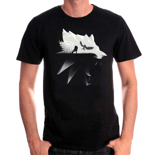 Trièko Witcher - Wolf Silhouette XL