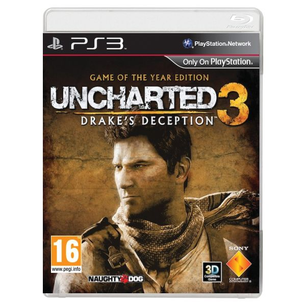 Uncharted 3: Drake's Deception  (Game of the Year Edition)-PS3 - BAZÁR (použitý tovar)