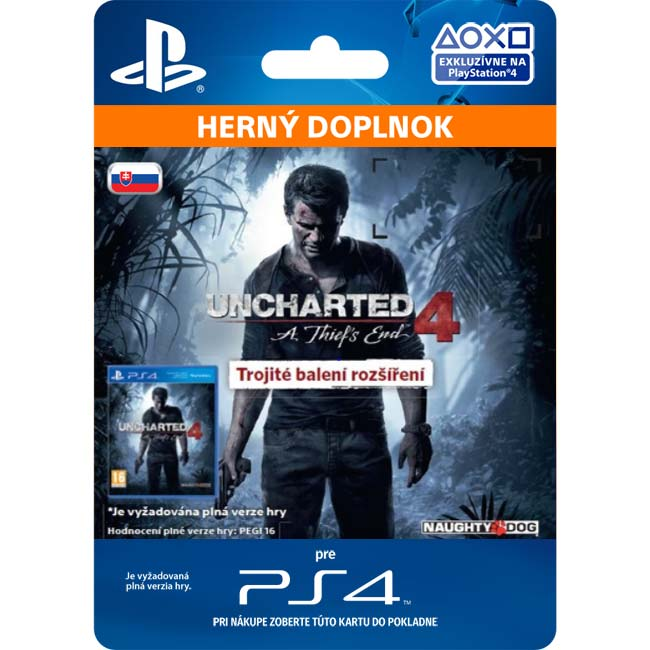 Uncharted 4: A Thief's End CZ (SK Triple Pack Expansion)