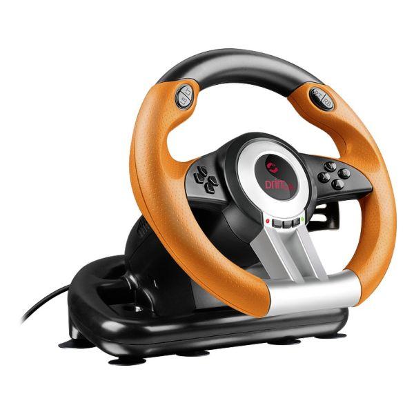 Volant Speedlink Drift O.Z. Racing Wheel pre PC, čierno-oranžový SL-6695-BKOR-01