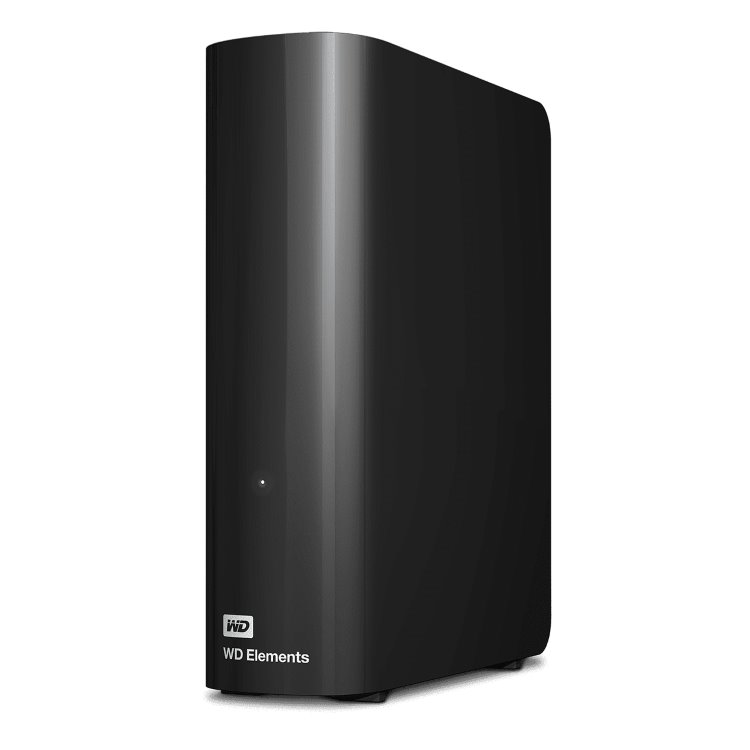 Western Digital HDD Elements Desktop, 12TB, USB 3.0 (WDBWLG0120HBK-EESN) WDBWLG0120HBK-EESN