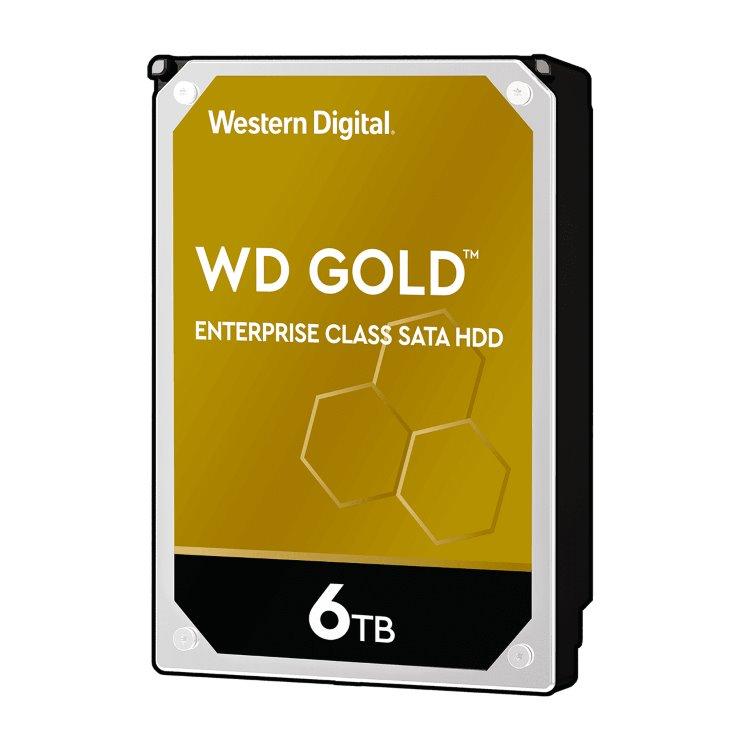 """Western Digital HDD Gold, 6TB, 256MB Cache, 7200 RPM, 3.5"""" (WD6003FFBX) WD6003FRYZ"""