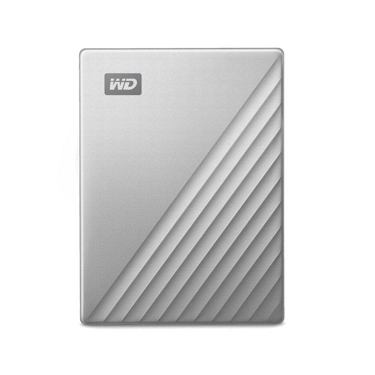 Western Digital HDD My Passport Ultra, 4TB, USB-C, Silver (WDBYVG0040BBK-WESN) WDBFTM0040BSL-WESN