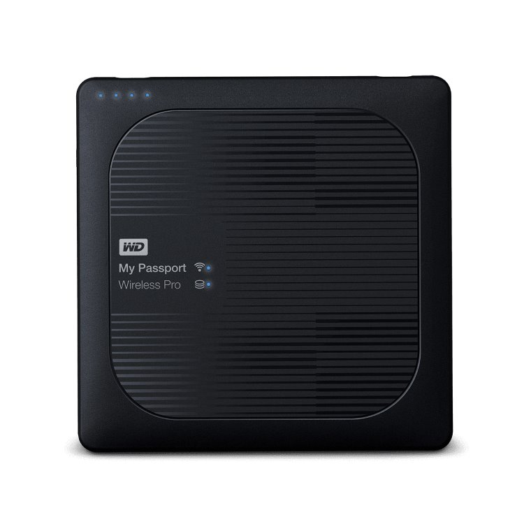 Western Digital HDD My Passport Wireless Pro, 4TB, USB 3.0 (WDBSMT0040BBK-EESN) WDBSMT0040BBK-EESN