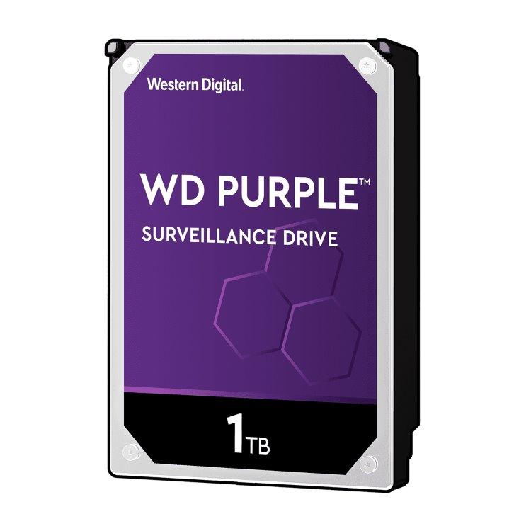 """Western Digital HDD Purple, 1TB, 64MB Cache, 5400 RPM, 3.5"""" (WD10PURZ) WD10PURZ"""