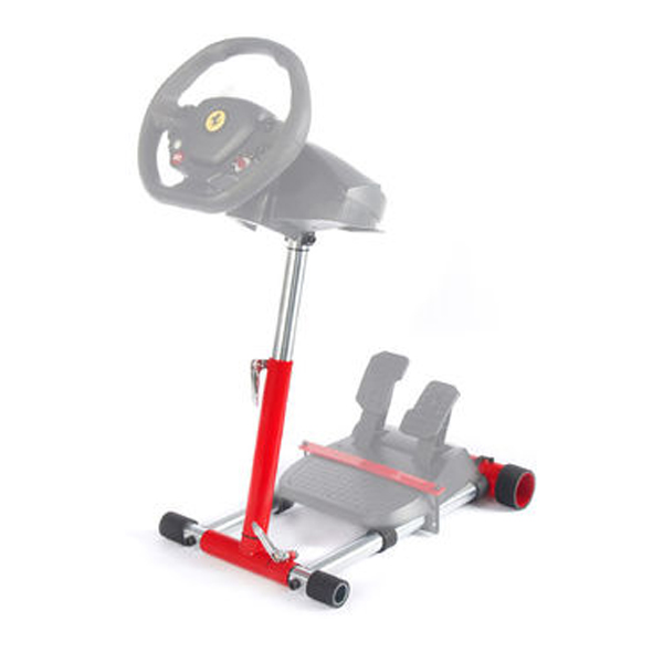 Wheel Stand Pro DELUXE V2, racing wheel and pedals stand for Thrustmaster SPIDER, T80/T100,T150,F458/F430, red