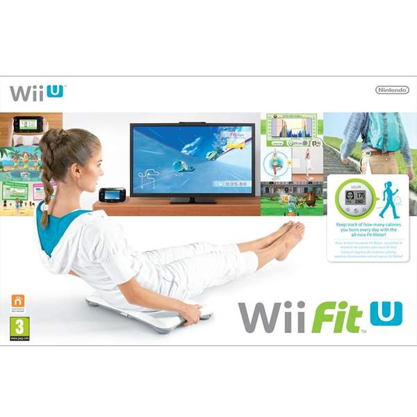 Wii Fit U + Fit Meter, Green + Wii Balance Board, White