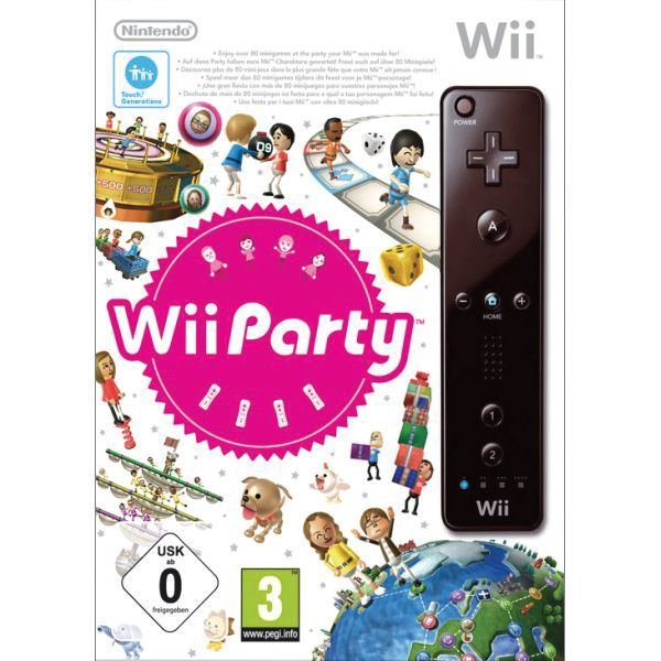 Wii Party + Nintendo Wii Remote Controller, black