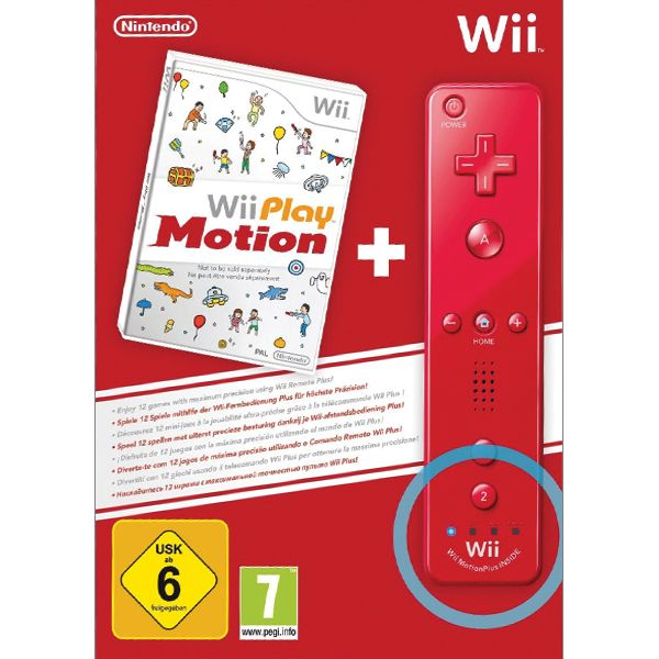 Wii Play: Motion + Nintendo Wii Remote Controller Plus, red (Limited Edition)