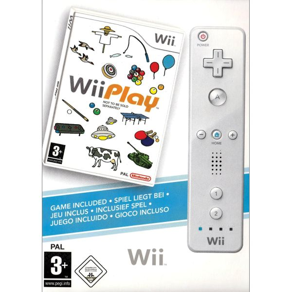 Wii Play + Nintendo Wii Remote Controller, white