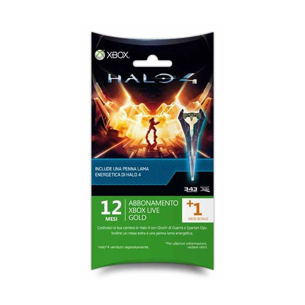 Xbox 360 LIVE Gold 12+1 Months Card (Halo 4 Edition)