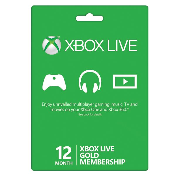 Xbox 360 Live GOLD 12 months card