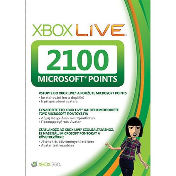 Xbox 360 Live GOLD Points (2100)