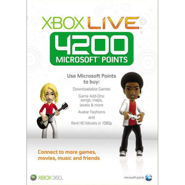 Xbox 360 Live GOLD Points (4200)