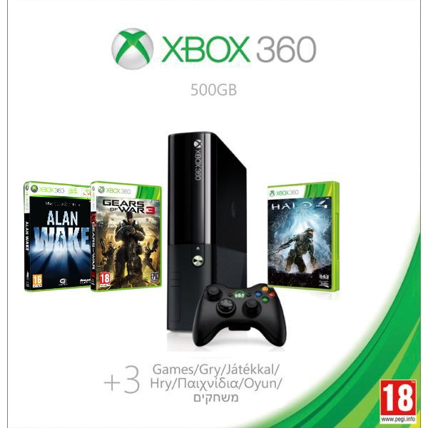 Xbox 360 Premium E 500GB (Holiday Value Bundle) + Gears of War