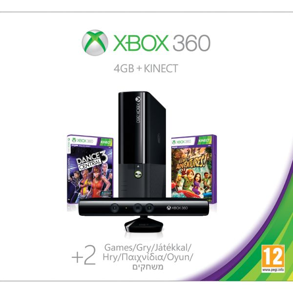 Xbox 360 Premium E Kinect Special Edition 4GB (Spring Value Bundle)
