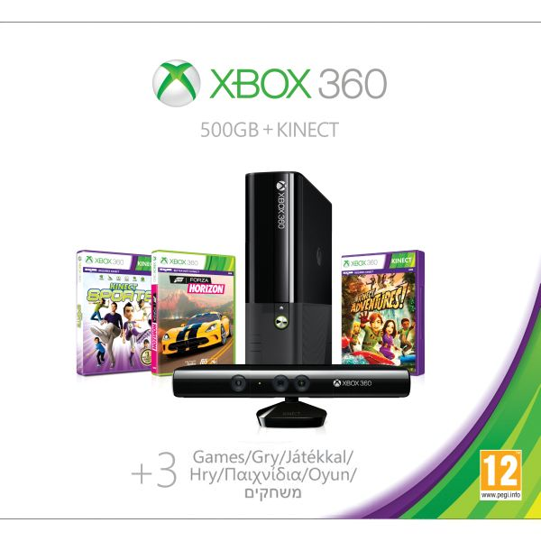 Xbox 360 Premium E Kinect Special Edition 500GB (Holiday Value Bundle)